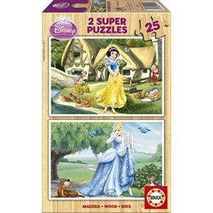 Educa Coffret 2 puzzles : Princesses Disney - Blanche-Neige et Cendrillon 25 pièces