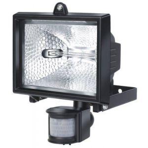 Brennenstuhl Projecteur halogène (IP 44) avec détecteur de mouvements infrarouge, spot halogène (400 W) avec interrupteur crépusculaire, Quantité : 1