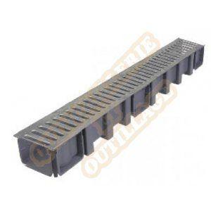 Nicoll Caniveau 1m grille acier galvanisé A15 largeur 130 DRP178