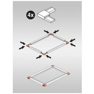 Madécostore Set de 4 angles blanc pour moustiquaire à cadre fixe
