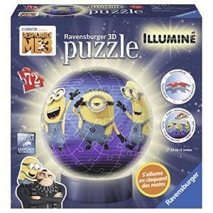 Ravensburger Moi, moche et méchant 3 - Puzzle ball illuminé 72 pièces