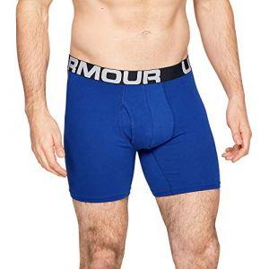 Under Armour Charged cotton 6 boxerjock 3 pack 1327426 400 homme calecon boxeur bleu xl