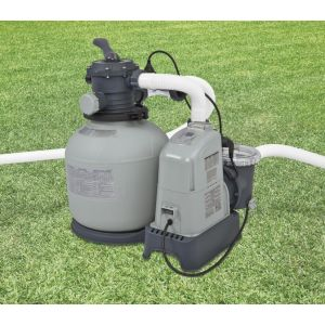 Intex 28676 - Combiné filtre à sable 6 m3/h + éco stérilisateur + OEC