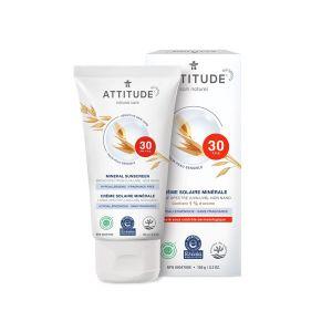 Image de Attitude Crème Solaire - Hypoallergénique Sans Fragrance - 150 g - SPF 30