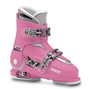 Roces Idea Up Chaussures de Ski Enfant Taille Ajustable Rose Deep Pink-White 30/35