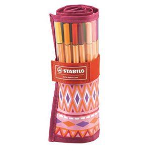 Stabilo Point 88 - 25 stylo-feutres édition Limitée Rollerset festival Spirit Rose