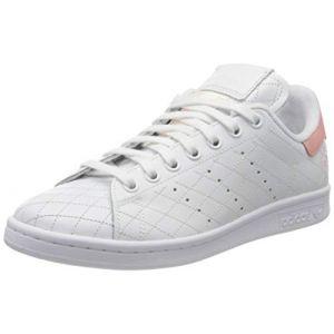 Adidas Stan Smith W, Basket Femme, FTWR White/FTWR White/Glory Pink, 43 1/3 EU