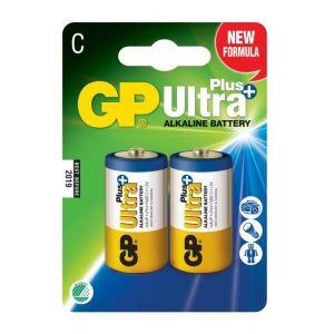 GP Batteries GP 2 Piles Alcaline Ultra Plus LR14/C - 14AUP-2U4