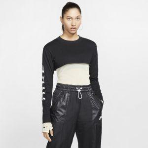 Nike Haut court à manches longues Sportswear pour Femme - Noir - XL - Female