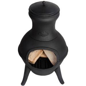Esschert design JBQ33077 - Poêle à bois chauffe terrasse en fonte pour extérieur
