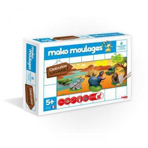 Mako moulages 6 moulages en plâtre : Destination savane