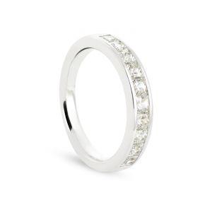 Rêve de diamants 3612030069024 - Alliance en or blanc sertie de diamants