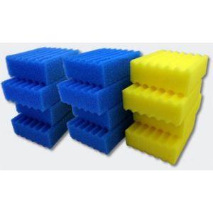 wiltec Pièce détachée pour SunSun Filtre Biologique CBF-350C Lot complet d'Éponges Filtre