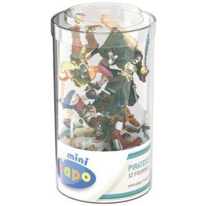 Papo Figurines pirates : Tube de 12 mini figurines