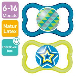 Mam 2 sucettes Air en latex T2 (6-16 mois)