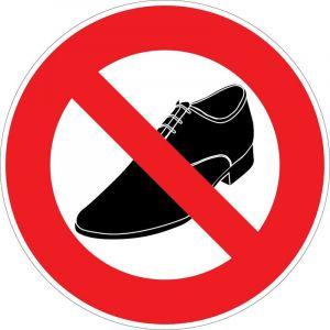 Novap Panneau Interdit aux chaussures de ville - Rigide Ø180mm - 4041391