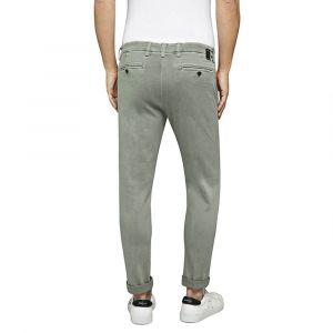 REPLAY Pantalon chino slim Hyperflex Zeumar Vert