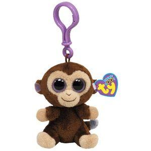 Ty Porte-clé peluche beanie boo's Coconut le singe