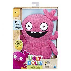 Hasbro Ugly Dolls - Peluche Electronique Moxy la Pipelette – 28 cm - Chante en français