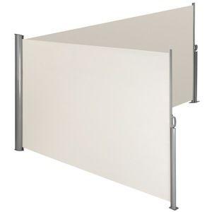 TecTake Paravent brise-vue rétractable double pour balcon 180x600cm