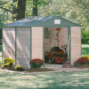 Spacemaker GW 108 - Abri de jardin en cèdre et acier 7,6 m2