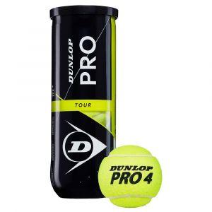 Dunlop Balles tennis Pro Tour - Yellow - Taille 3 Balles