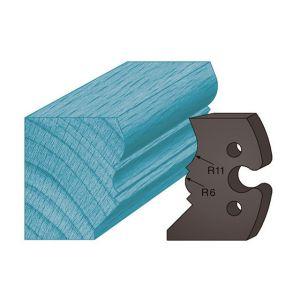 Diamwood Platinum Jeu de 2 contre-fers profilés Ht. 48 x 5,3 mm mouchette de corniche A241 pour porte-outils de toupie