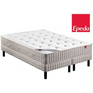 Epeda Ensemble Matelas ORCHIDEE 620 ressorts Confort Medium 200x200 avec 2 sommiers