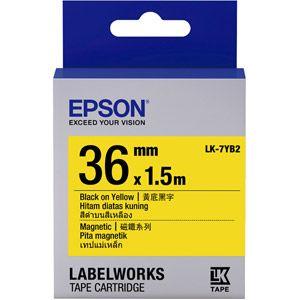 Epson C53S657008 - LK-7YB2 noir sur jaune / 36mm