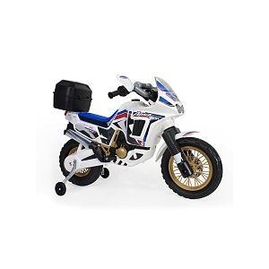 Injusa Moto Électrique 6V - Honda Africa Twin - Blanc