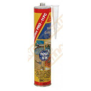 Sika MASTIC-COLLE POLYURETHANNE FLEX PRO 11 FC BLANC CARTOUCHE DE 300ML