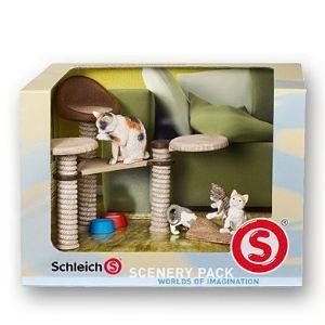 Schleich Coffret arbre à chat et figurines chats