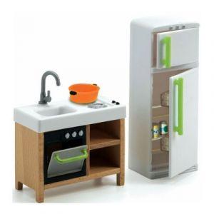 Djeco Cuisine compacte - Mobilier pour maison de poupées