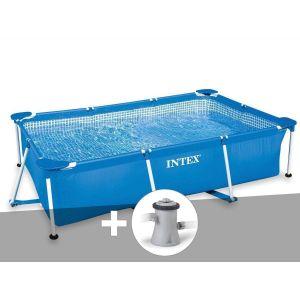 Intex Kit piscine tubulaire rectangulaire 2,60 x 1,60 x 0,65 m + épurateur 1,25 m³/h