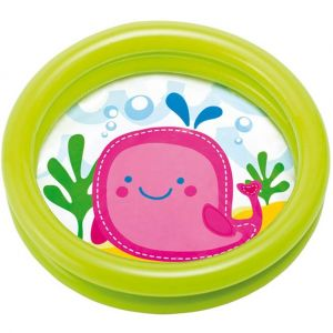 Image de Intex Piscine gonflable ronde pour bébé Motif Baleine rose
