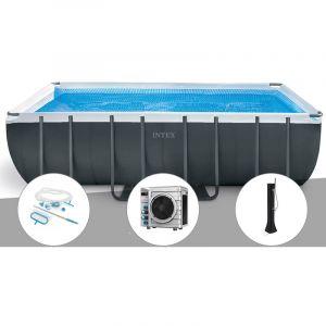 Intex Kit piscine tubulaire Ultra XTR Frame rectangulaire 5,49 x 2,74 x 1,32 m + Kit d'entretien + Pompe à chaleur + Douche solaire