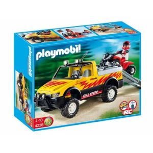 Playmobil 4228 - Pick-up et quad de course