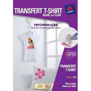 Avery-Zweckform 6 Transferts T-shirt pour textiles blancs