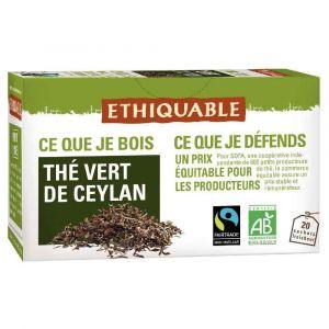 Sachet thé vert Ceylan bio - Boite de 20