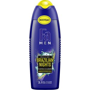 FA Men - Gel Douche Homme - Brazilian Nights - Extrait de Guarana - 250ml