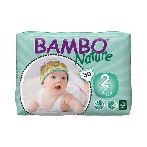 Bambo Nature Couches écologiques taille 2 Mini 3-6 kg - paquet de 30