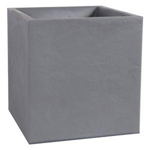 Eda Plastiques Bac à plantes carré Volcania 40 cm 35 L