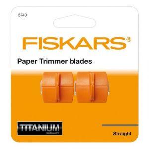Fiskars 5740 - Lot de 2 lames de rechange TripleTrack Titanium, coupe droite