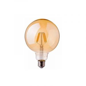 V-TAC PRO VT-296 Ampoule globe LED 6W chip samsung filament G95 E27 verre ambre blanc chaud 2.200K - SKU 293