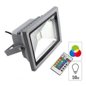 Vision-El Projecteur LED 50W RGB + télécommande IR