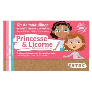 Namaki Kit de Maquillage Bio Princesse et Licorne 3 couleurs