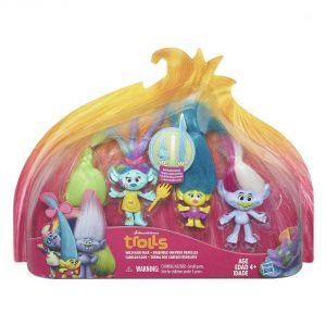 Hasbro Pack de 4 Trolls cheveux déments