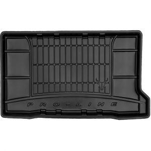 DBS Tapis de Coffre sur Mesure Caoutchouc 3D pour Fiat 500 des 07/2015 - Matière : caoutchouc TPE - Zones de rangement latérales - Nettoyage facile - Installation rapide