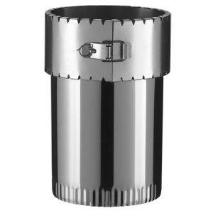 Poujoulat Raccord émaillée sur tubage flexible pour poêle à bois - Diamètre : 150/150 -