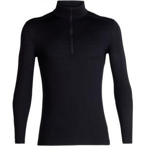 Icebreaker 200 Oasis L/S Half Zip - Sous-vêtements mérinos taille S, noir